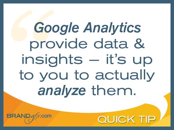 Analyze your Google Analytics