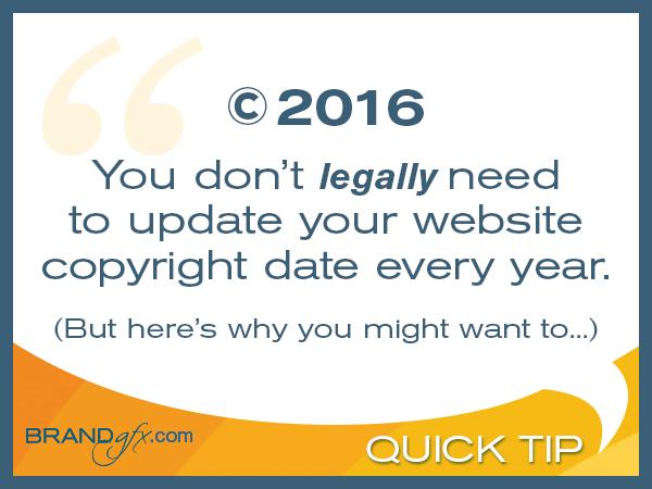 Update Website Copyright