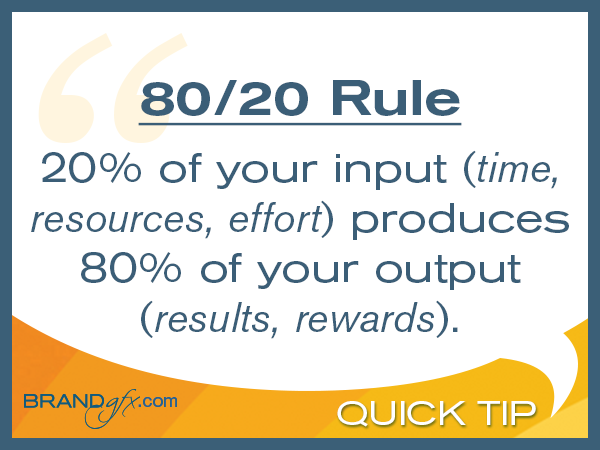 The 80 20 Rule For Business Brandgfx Design And
