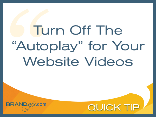 Turn Off Video Autoplay