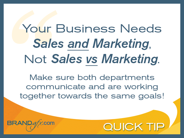 Sales Verses Marketing