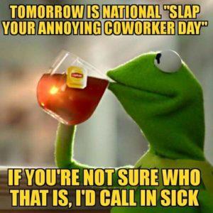 slap coworker meme